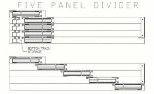 Illustration of the SA1 Sliding Room Divider